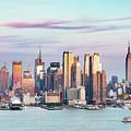 Midtown Manhattan Skyline At Sunset, New York City, Usa by Matteo Colombo