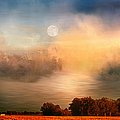 Midwest Harvest Moon by Theresa Campbell