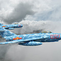 Mig 17s On The Hunt by Rob Lester