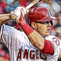 Mike Trout Baseball by Marvin Blaine