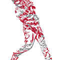Mike Trout Los Angeles Angels Pixel Art 20 by Joe Hamilton