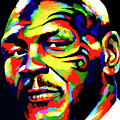 Mike Tyson Abstract by Chris Bardell