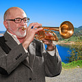 Mike Vax Professional Trumpet Player Photographic Print 3761.02 by M K  Miller
