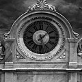 Milan Clock In Black And White by Gregory Dyer
