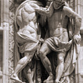 Milan Italy Cathedral Statues In Black And White by Gregory Dyer