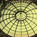 Milan Italy Galleria In Black And White by Gregory Dyer