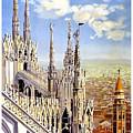 Milan Travel Print by Pd
