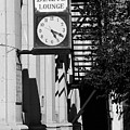 Miles City, Montana - Downtown Clock Bw by Frank Romeo
