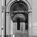 Miles City, Montana - Downtown Entrance Bw by Frank Romeo
