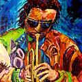 Miles Davis Hot Jazz Portraits By Carole Spandau by Carole Spandau