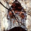 Milford Clock Tower Vintage by Janine Riley