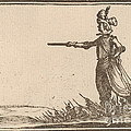 Military Commander On Foot by Edouard Eckman After Jacques Callot