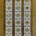 Military Insignia On Stained Glass - Meuse Argonne - East by Weston Westmoreland