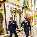 Military Musicians In Rab Town, Croatia by Global Light Photography - Nicole Leffer