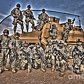 Military Police Pose For This Hdr Image by Terry Moore