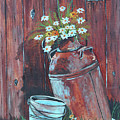 Milk Can Of Daisy's by Betty McGregor