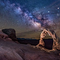 Milky Way And Delicate Arch by Michael Ash