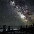 Milky Way And Mars by John Meader