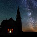 Milky Way And Old Church by Yoshiki Nakamura