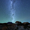Milky Way And Volcanic Desert Scenery By Moonlight Bolivia by James Brunker