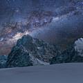 Milky Way On Italian Dolomites by Pier Giorgio Mariani