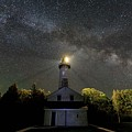 Milky Way Over Cana Island Lighthouse by Paul Schultz