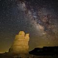 Milky Way Over Castle Rock by Kelvin Chalkley