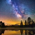 Milky Way Over Coffin Pond  by Nick Walker