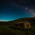 Milky Way Over Log Cabin by Scott Law