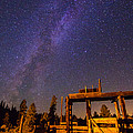 Milky Way Over Old Corral by John R. Foster