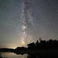 Milky Way Over Schwabacher's Landing by Jean Clark