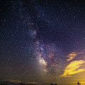 Milky Way Over The Boardwalk by Justin Starr