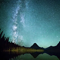 Milky Way // Two Medicine Lake, Glacier National Park by Nicholas Parker
