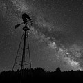 Milky Way Windmill Bw by Michael Ver Sprill