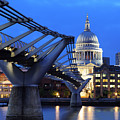 Millennium Bridge And St Pauls Cathedral by Colin Woods