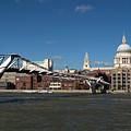 Millennium Bridge And St Pauls by Chris Day