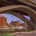 Miller Brewery Viewed Under Bridge by Anita Burgermeister