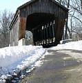 Millrace Park Old Covered Bridge - Columbus Indiana by Scott D Van Osdol