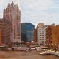 Milwaukee River View by Anita Burgermeister