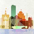 Milwaukee Skyline Color by Dim Dom