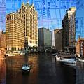 Milwaukee Water Trio W Map by Anita Burgermeister