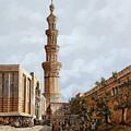 Minareto E Mercato by Guido Borelli