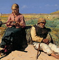 Minding A Child by Peter Ancher