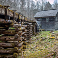 Mingus Millrace And Mill In Late Winter by Susie Weaver