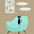 Mini Abstract With Blue Chair by Donna Mibus