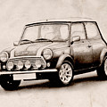 Mini Cooper Sketch by Michael Tompsett