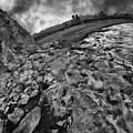 Mini Mono Lake Mountain Black And White by Blake Richards