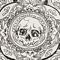 Skull Mandala by Faithc Original Artwork