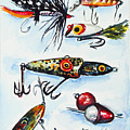 Mini Study- Fishing Lures by Johnnie Stanfield