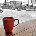 Minneapolis Coffee Shop In Winter by Jim Hughes